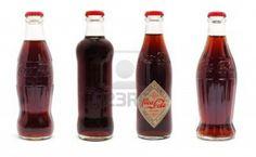Differently shaped coke bottles