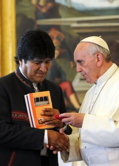 Pope Francis meets Bolivia President Morales