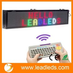 Leadleds 40 X 6-in Led Sign for Business - Vivid 7 Colors Message Board, Easy Program By Remoter, Great for Restaurant, Beer, Bar, Home, Office, Store, Window, Wall (Text, Real Time, Symbol, Animation Supported)