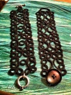 Free Celtic Tatting Patterns | Tatting: We make lace with lots of little knots!: More Bracelet ...