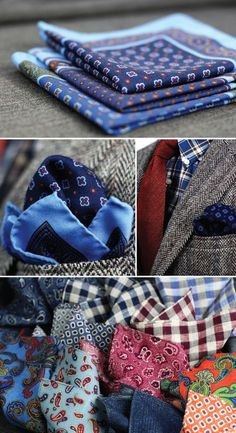 Our New Collection of Wool Pocket Square from Italy have arrived.