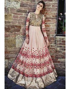 Elegant Blush Pink #Designer #Anarkali Suit