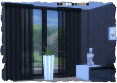 Sims 4 CC's - The Best: Transparent Blinds by Devilicious - Sims 4 Studio