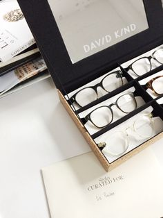 40434a86b0 This home try on set of 6 styles of our glasses made it s way to  Minneapolis to art director and creative director Liz Gardner. DAVID KIND  Eyewear