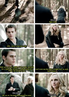 Stefan and Caroline. The Vampire Diaries Season 6 Episode 13