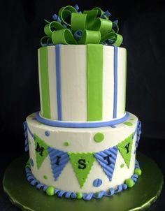 Triangle Pennant Cake