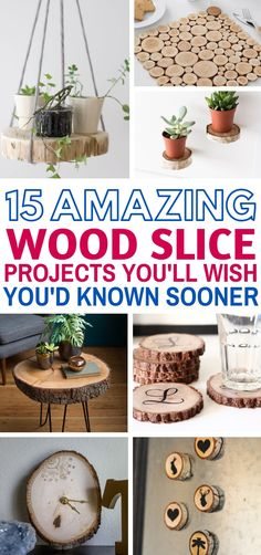These 15 easy Wood Slice Crafts will make your home decor look FANTASTIC! They're so simple to make with step by step tutorials showing you how. The ornaments and tables are the BEST! diy Spectacular Wood Slice Projects For The Weekend - Craftsonfire Crafts To Sell, Home Crafts, Diy Home Decor, Diy And Crafts, Room Decor, Craft Ideas For The Home, Sell Diy, Decor Crafts, Diy Crafts For Bedroom