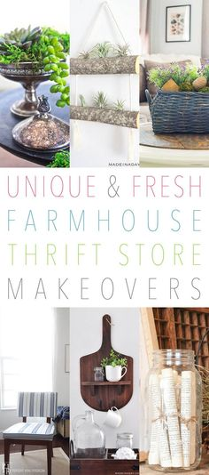 Unique and Fresh Farmhouse Thrift Store Makeovers