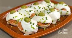 huevos rellenos Tapas, Sushi, Recipies, Eggs, Breakfast, Ethnic Recipes, Food, Sport, Deviled Eggs Recipe