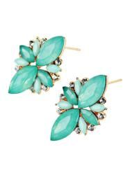 Gamiss - Gamiss Faux Gems Embellished Earrings - AdoreWe.com