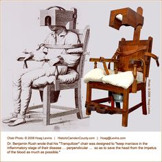 tranquilizer chair used in insane asylums