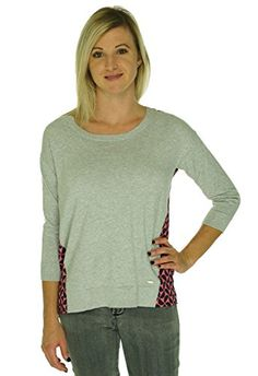 Tommy Hilfiger Womens Printed Crew Neck Pullover Sweater Gray L ** Want to know more, click on the image.