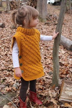 Most current Pics Crochet poncho turtleneck Ideas Time Traveler Tunic: Crochet Tunic Baby Toddler Child Buttoned Poncho turtleneck cowl Kids Poncho Pattern, Crochet Poncho Patterns, Crochet Tunic, Tunic Pattern, Crochet Clothes, Toddler Poncho, Crochet Toddler, Crochet For Kids, Crochet Baby
