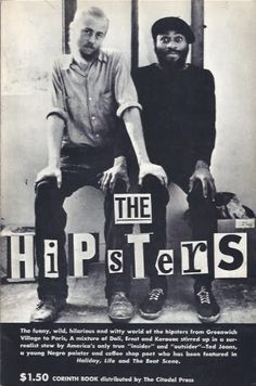 The Hipsters by Ted Joans, Corinth Books, 1959