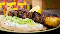 Greek BBQ Lamb Souvlaki - Good Chef Bad Chef