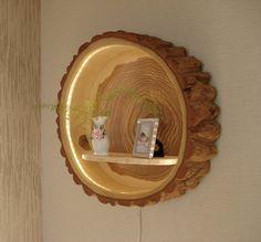 Baumstamm Lampe Holzlampe von HolzbauBohse auf Etsy