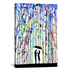 Found it at Wayfair - 'Pour Deux' by Marc Allante Painting Print on Wrapped Canvas