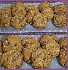 Cookies με βρώμη και σοκολάτα !!! ~ ΜΑΓΕΙΡΙΚΗ ΚΑΙ ΣΥΝΤΑΓΕΣ 2 Sweet Cookies, Biscuit Cookies, Cake Cookies, Healthy Sweets, Healthy Snacks, Healthy Recipes, Greek Sweets, Cake Bars, Diy Cake