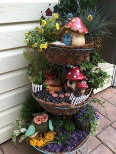 37 beautiful gnome garden and fairy garden design ideas 12 - Modern Fairy Garden Pots, Indoor Fairy Gardens, Fairy Garden Houses, Miniature Fairy Gardens, Garden Art, Garden Kids, Garden Gnomes, Garden Crafts, Garden Projects