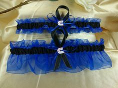 Blue and Black Wedding Garter Set with Cummins Theme by StarBridal OMG I believe I found the set for me