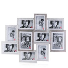 Photo wall finished - 15 photo frames black - Source by fotokaderstoko