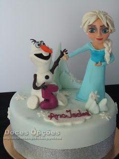Doces Opções: A Elsa e o Olaf no 5º aniversário da Ana Isabel