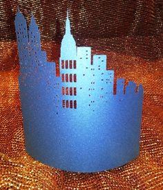 DIY New york skyline centerpiece 3 by hilemanhouse on Etsy