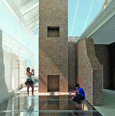 This rendering shows how visitors to a restored Menokin will be able to see behind, around and through walls to understand Colonial construction. Colonial, Restoration, Foundation, Objects, Walls, Museum, Construction, Country, Unique