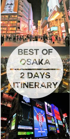 2 Days Osaka Itinerary Osaka is the third largest city in Japan. Many incorporate a visit to Osaka though just for a few days in their Japan Trip. If you only have as short as a day I think it is worth the trip. We initi… Japan Travel Guide, Tokyo Travel, Asia Travel, Hiroshima, Nagasaki, Go To Japan, Visit Japan, Japan Trip, Osaka Japan Things To Do