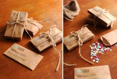 Confetti Business Cards