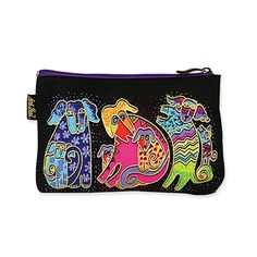 Laurel Burch Dog Tales Cosmetic Bag -- Don't get left behind, see this great  product : Travel cosmetic bag