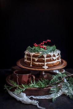 A Christmas Cake | Date & Honey Cake With A Cinnamon Orange Glaze