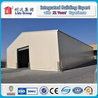 light steel prefabricated workshop large span steel space frame structure warehouse