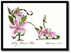 Shoe  Lily Flower Shoe  Original Watercolor by brownleeartstudio, $50.00 - we could have her custom make one with polka dots in background!!