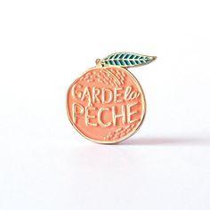 Lapel pins peach illustration