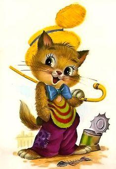 ❤️ Cute Animal Drawings Kawaii, Disney Printables, Alice In Wonderland Party, Horse Art, Cute Illustration, Big Eyes, Vintage Postcards, Cat Art, Cute Pictures