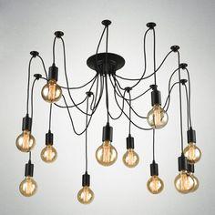 Spider Pendant Lights E27 Vintage Loft Hanging Suspension Industrial Lighting Retro Luminaire Lamp Fixture Home Dining Room D777 #Affiliate
