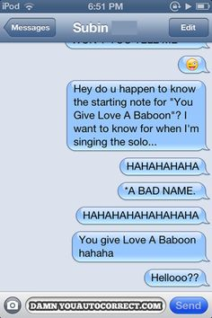funny auto-correct texts - The 12 Funniest Autocorrects Of March 2013!