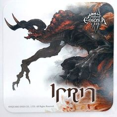 Final Fantasy XIV Primals Ifrit Coaster Eorzea Cafe Limited Game Square Enix F/S