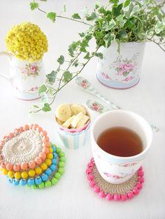 Örme Bardak Altlığı - Crochet Coaster