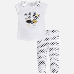 Set of capri polka dot leggings and T-shirt for girl - Sale! Up to 75% OFF! Shop at Stylizio for women's and men's designer handbags, luxury sunglasses, watches, jewelry, purses, wallets, clothes, underwear