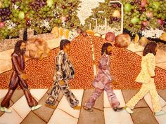 Beatles get scrambled in 'Abbey Road' cover made of breakfast food - NBC News Entertainment