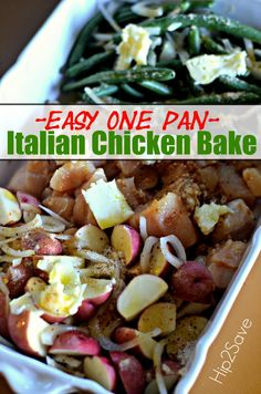If you're looking for a super easy and surprisingly tasty one pan meal, try this simple Italian Chicken Bake that incorporates chicken, potatoes, and green beans. It takes just minutes to com…