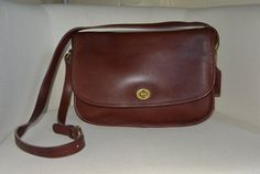 Vintage Coach City Bag in Burgundy by TheAdventurersLegacy on Etsy