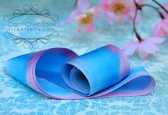 Cam Creations hand-dyed silk ribbon
