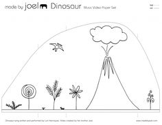 Made by Joel » Dinosaur Music Video Paper City, for use with Fossil by Bill Thomson