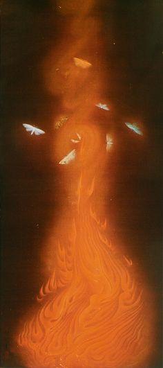 速水御舟「炎舞」 Fire dance by Gyoshu Hayami 1925
