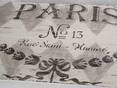 A Few Pennies: French Stencil