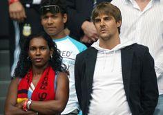 German footballer Sebastian Deisler and his beautiful Eunice. Beautiful interracial couple! #love #wmbw #bwwm