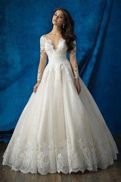 Wedding gown by Allure Bridals IF THIS WERE SHORT SLEEVE THIS WOULD BE IT!!!!!! ❤️❤️❤️❤️